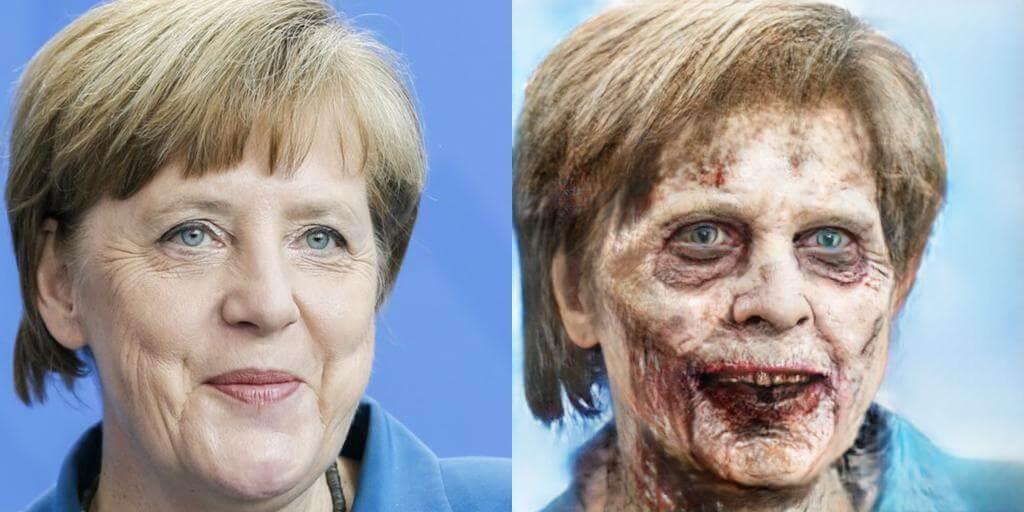 Ангела Меркель зомби