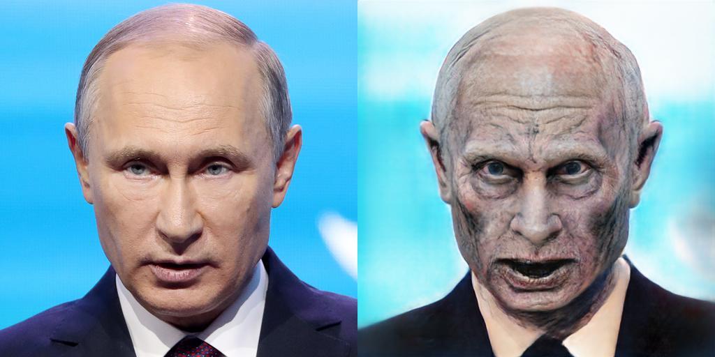 Путин зомби